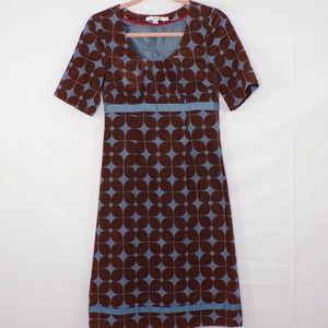 Boden Corduroy Retro Floral Print Dress, Sz 2